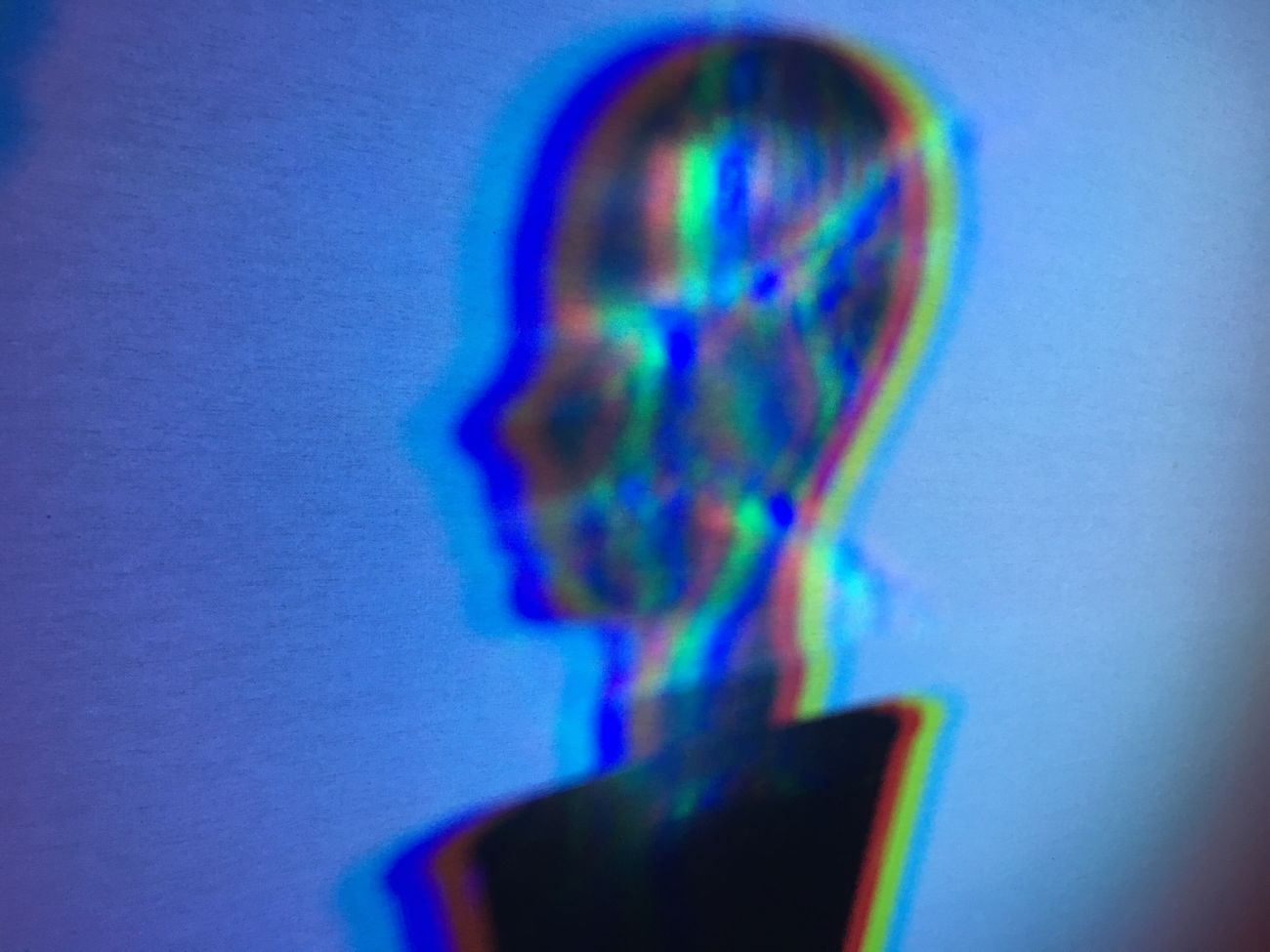 Blue One Person Close-up People Night Photography Night Lights Long Exposure RGB LED HEAD Bust  Person Statue Sculpture Illuminated Shadow Shadows & Lights Glowing CMYK Rainbow Prism Idea Creativity Thinking Robot