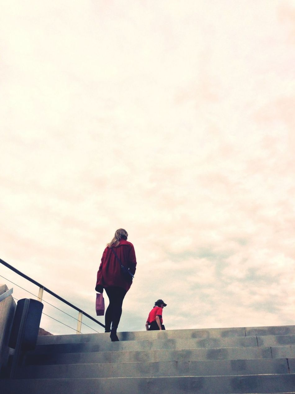 Sky Stairs Girl At An Exhibition
