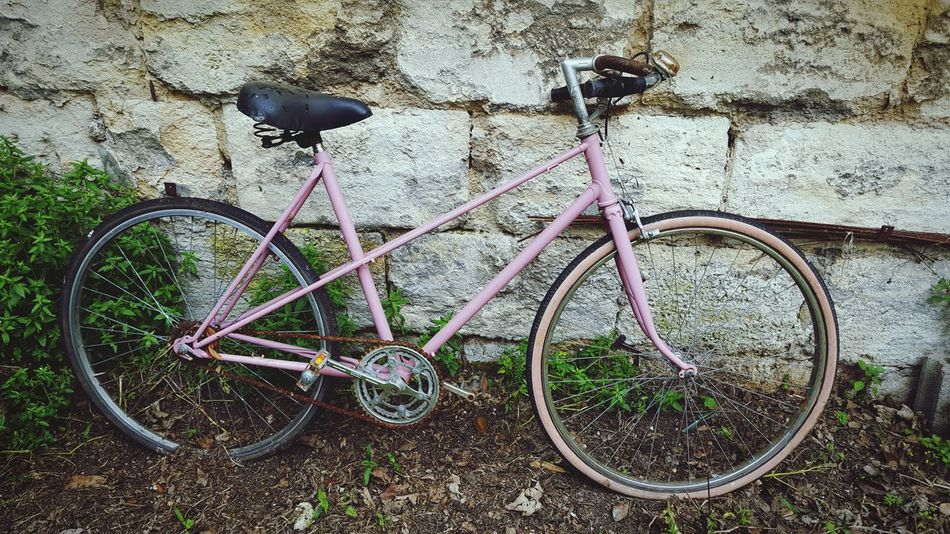 Bicycle Outdoors No People Vintage Abandoned Bicycles Millennial Pink