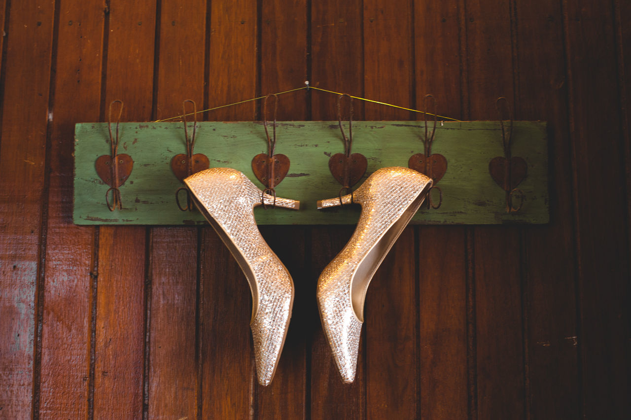 Close-up Day Hanging High Heels No People Outdoors Shoes Wood - Material