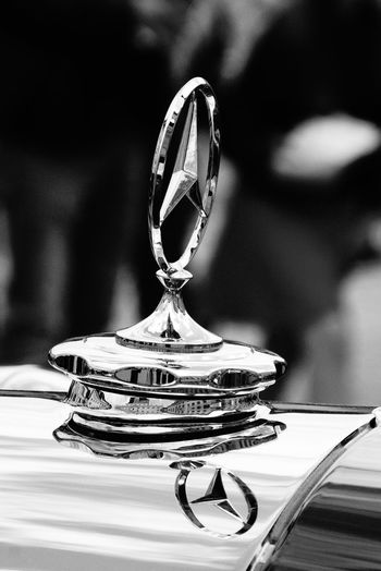 Car Chrome Clean Close-up Cooler Eye4photography  EyeEm Best Shots Focus On Foreground Hood Ornament Mein Automoment Mercedes Mercedes Benz Mercedes Star Mercedes-Benz Mercedesbenz Mirroring Oldtimer Selective Focus Showcase June Fine Art Photography Monochrome Photography The Drive