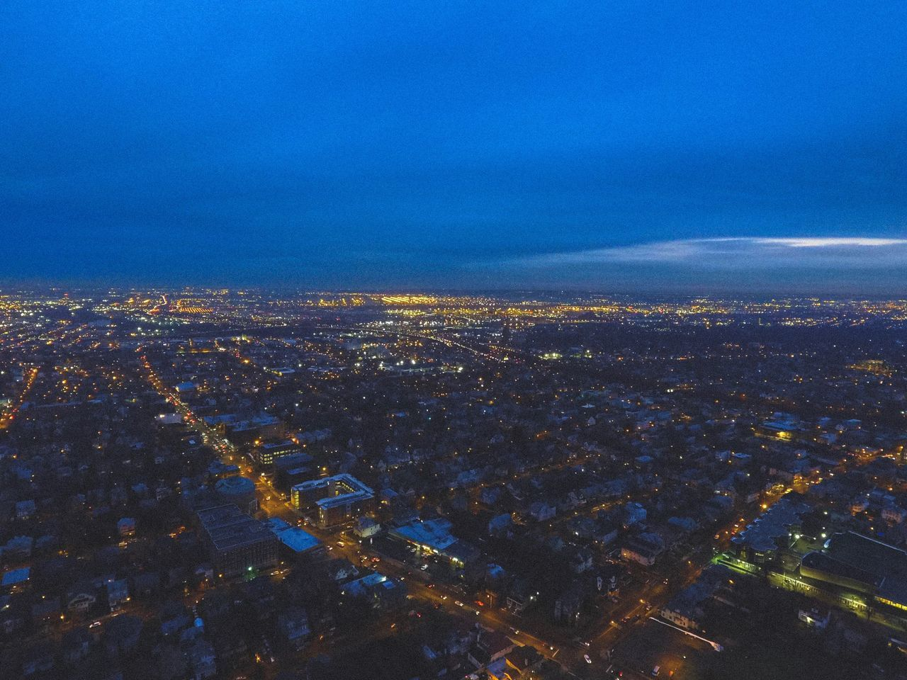 Newark at Dusk // Newark, Nj // Upper Clinton Hill ( Central Ward ) City Cityscape Architecture Aerial View Building Exterior Illuminated Built Structure Blue Outdoors Sky No People Night Scenics Nature Settlement Scenic Lookout Dusk New Jersey Newark Photography High Angle View