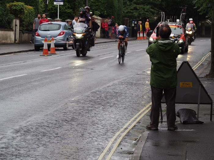 Sport Tour Of Britain Mode Of Transport Leisure Activity Cycling Tob2016 Bristol Time Trialling Blurred Motion Spectator Outdoors