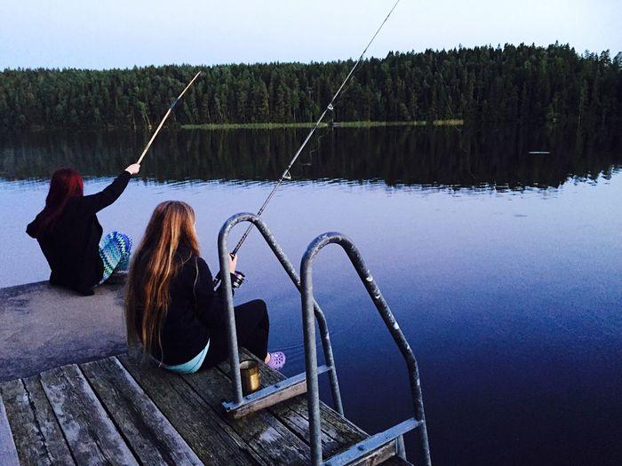 Hanging Out Relaxing Enjoying Life Summer Sunset Swedish Summer EyeEm Nature Lover Gone Fishing