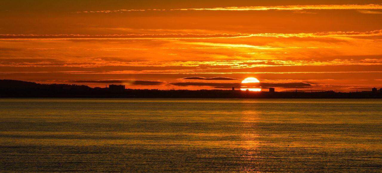 Coastal Sunset Sunset Scenics Orange Color Cloud - Sky Sun Water Outdoors First Eyeem Photo Musselburgh East Lothian Nature Golden Hour Skyline Tranquil Scene Idyllic Scotland Scottish