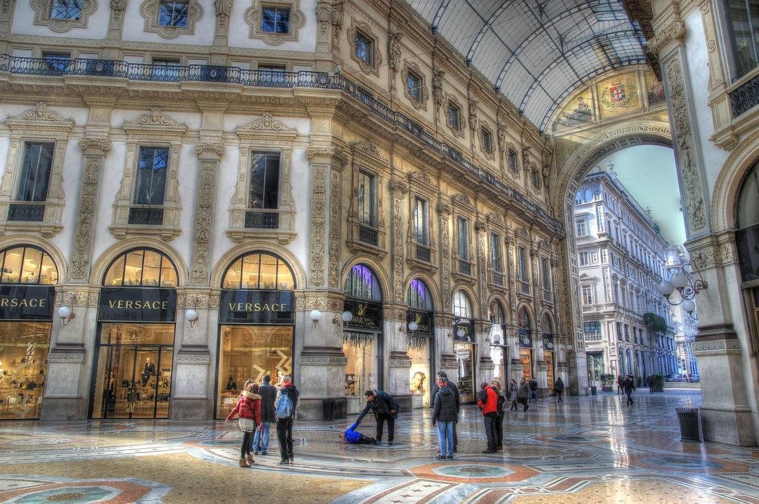 Arch Architectural Column Architecture Building Built Structure Casual Clothing City City Life Day Leisure Activity Lifestyles Milan Milano Mixed Age Range Tourism Tourist Travel Destinations