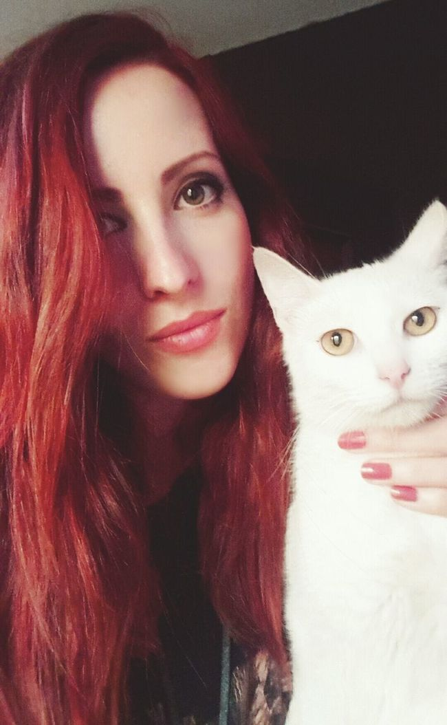 That's Me Cats My Cat ❤ Check This Out Selfportrait Red Hair Girl