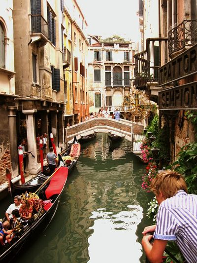 Canal Gondola - Traditional Boat Travel Destinations Gondolier Historical Place Venice Canals Venice, Italy