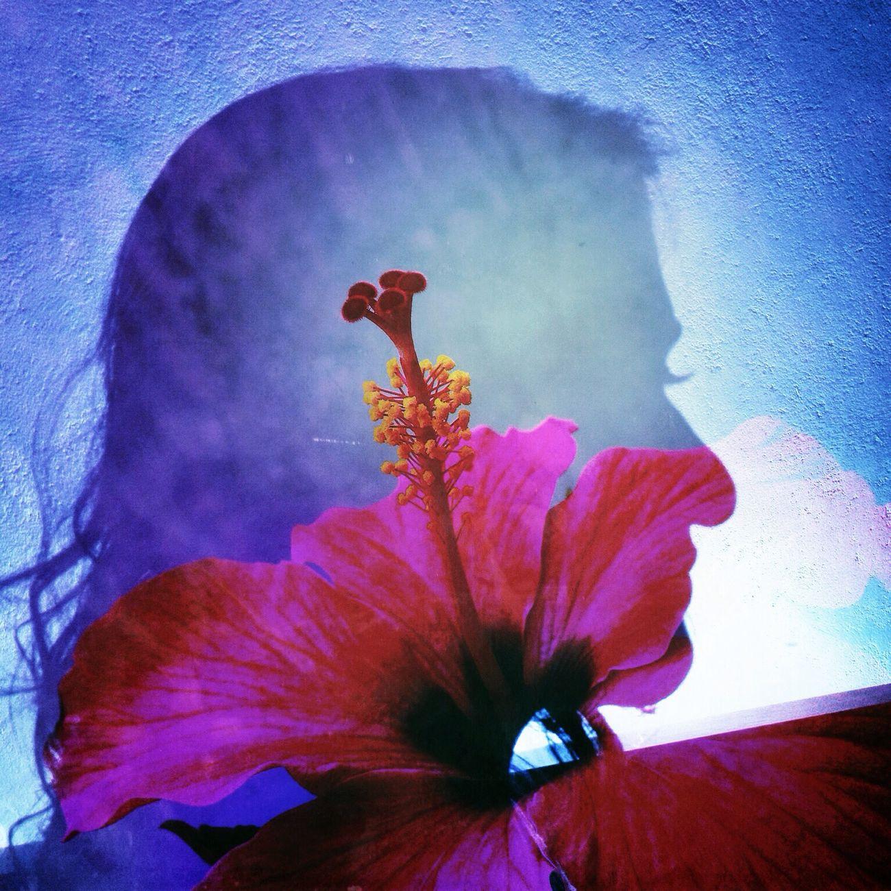Love is a peaceful feeling, like a flower hugging a butterfly. ~Jarod Kintz Portrait Double Exposure Fine Art Photography