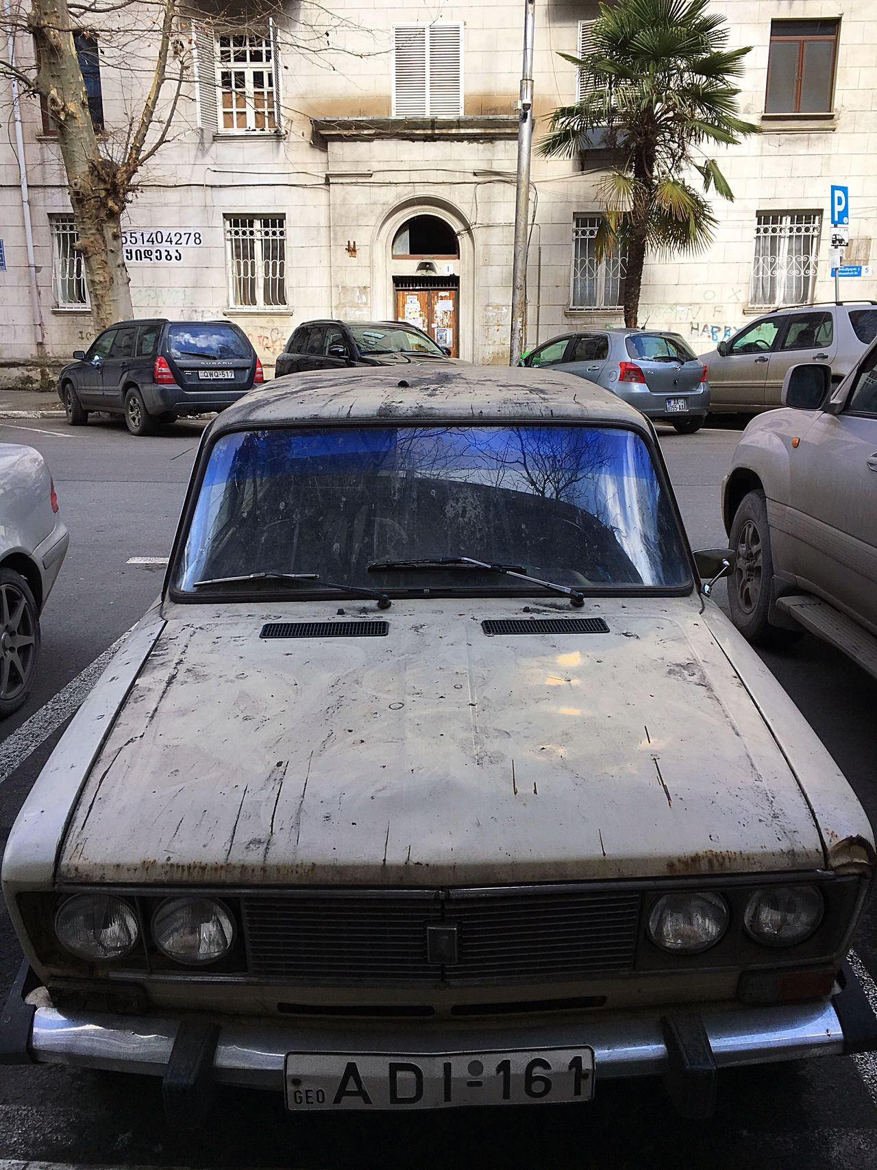 Tbilisi... 🇬🇪🚘 Car Transportation Mode Of Transport City Outdoors No People Day Tbilisi Georgia Old Car Polution Rusty Rusty Car One Day Could Be Vintage Number Plate