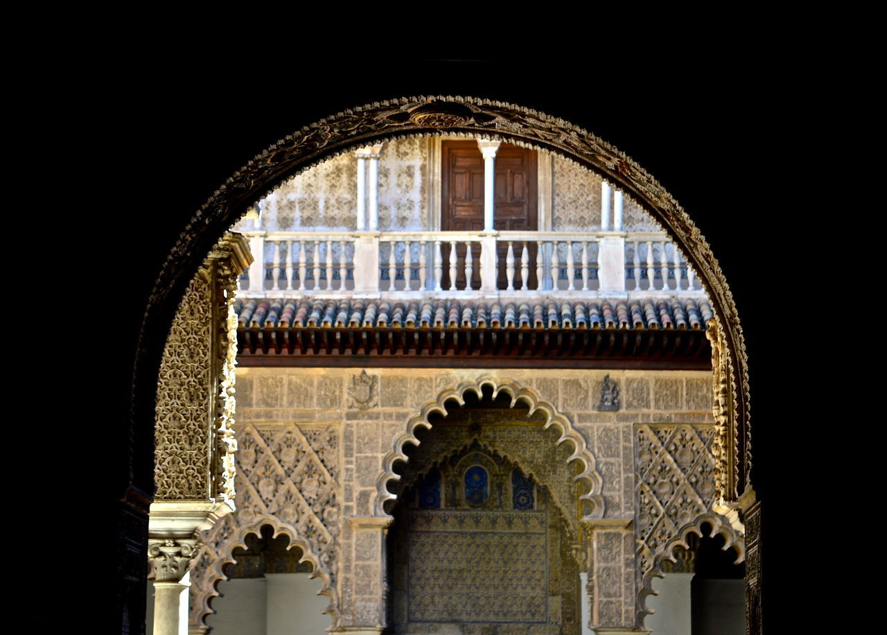 Alcazar Arch Architectural Feature Architecture Building Built Structure Day Europe Façade Historic Low Angle View No People Sevilla Seville Sky SPAIN Travel Photography Traveling