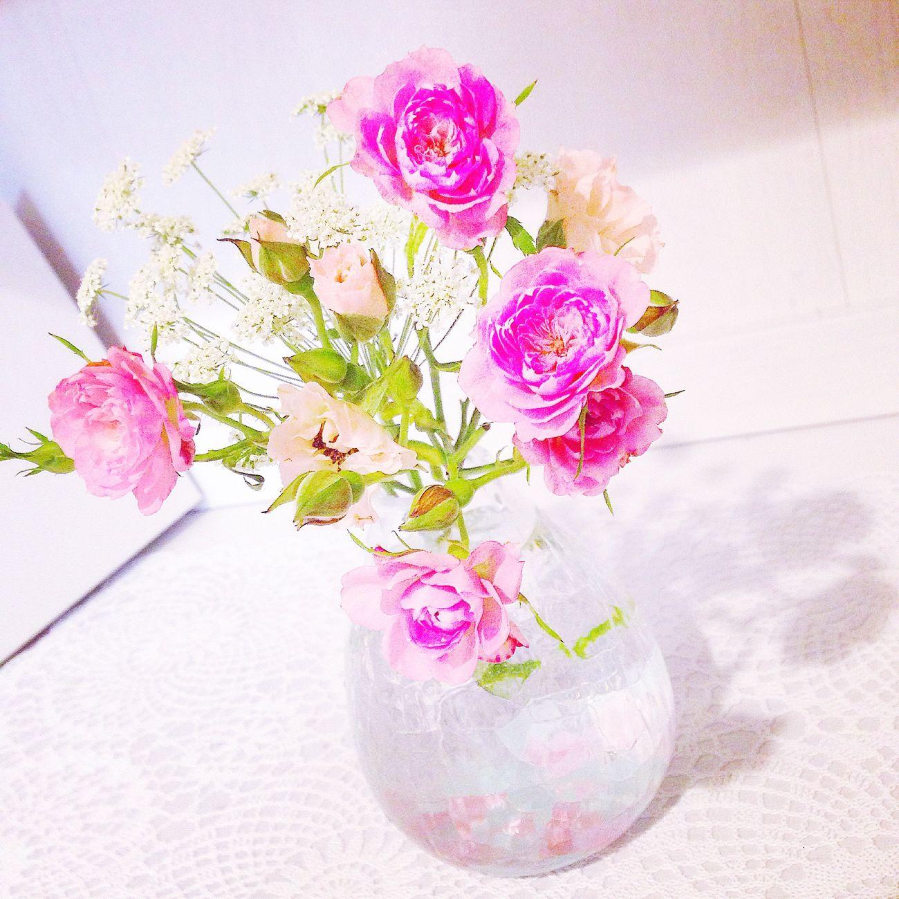 Flower Une Fleur Oeillet Carnation 花 Handmade Flower Vase Vase