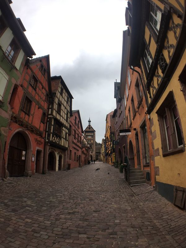 Riquewihr Architecture Building Exterior Built Structure Sky Low Angle View Day Outdoors No People City IPhoneography