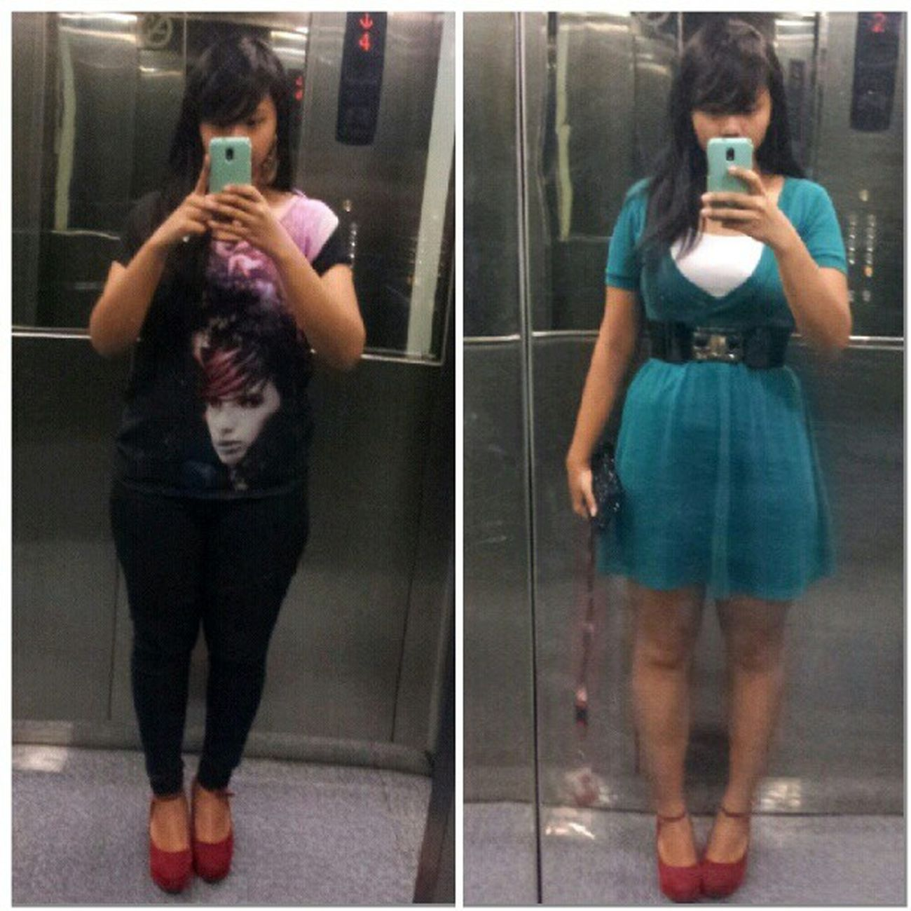 Ootd yesterday and today... Stylista Red