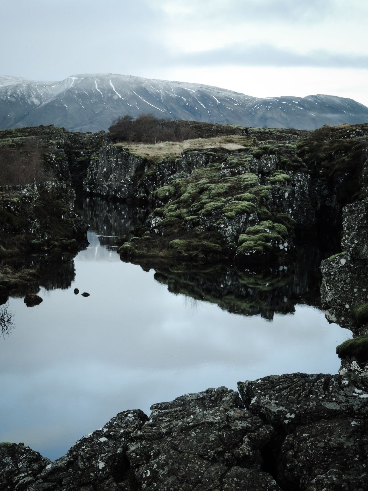 Mountain Nature Water Sky Beauty In Nature No People Tranquility Outdoors Day Iceland Thingvellir Thingvellir National Park Water Reflections Stones Stones & Water
