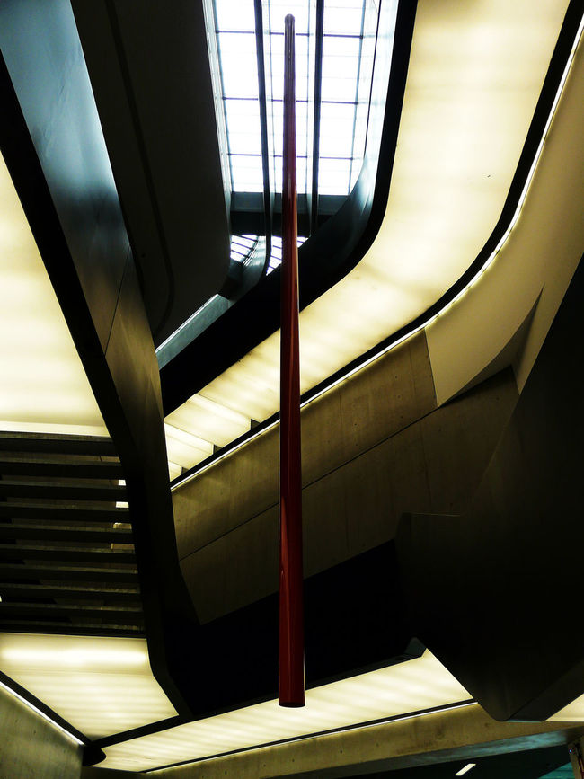 http://www.head-eye-heart.com Architectural Feature Architecture Arts Built Structure Ceiling Connection Day Floor Indoors  Lights Long Low Angle View MAXXI Roma Modern Museum Railroad Station Repetition Rome Staircase Stairs Steps Steps And Staircase Subway Station Up Zaha Hadid