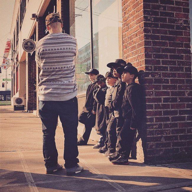 Behind the scenes directing little kids with @RazSimone. BlackUmbrella BTS Musicvideos