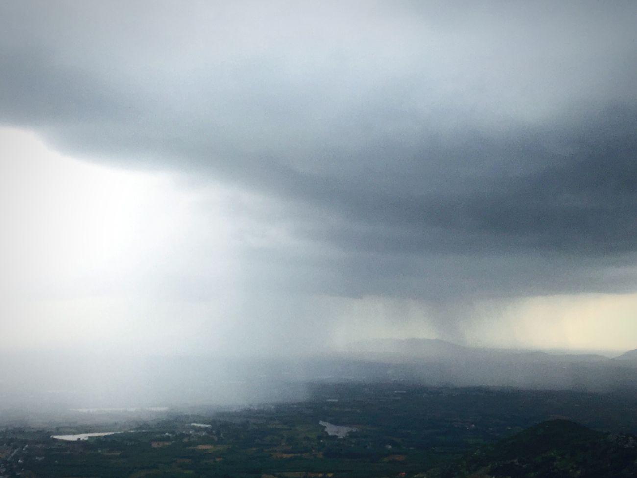 Rain fall view from Nandi hills First Eyeem Photo