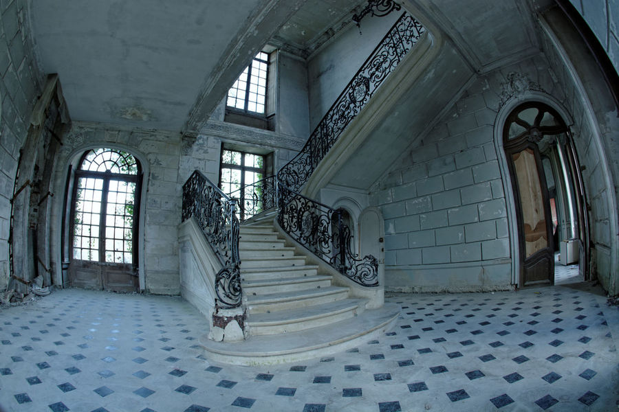 Abandoned Abandoned & Derelict Abandoned Places Architecture Bestoftheday Built Structure Castle Château Château Des Singes Day Derelict Door Exploration Exploring Indoors  Moth4fok No People Railing Staircase Steps Steps And Staircases Urbaine Urban Urbex Window The Architect - 2017 EyeEm Awards EyeEmNewHere Sommergefühle EyeEm Selects Your Ticket To Europe