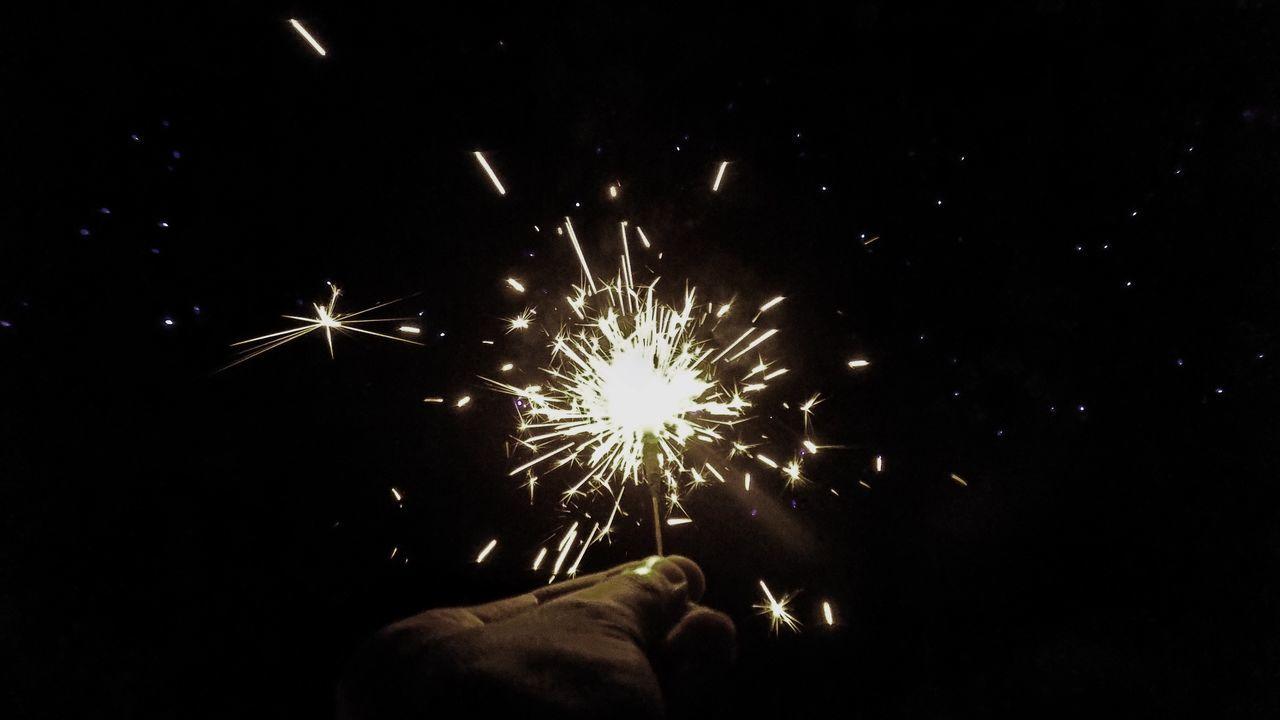 Illuminated Long Exposure Diwali Lights Sparkles
