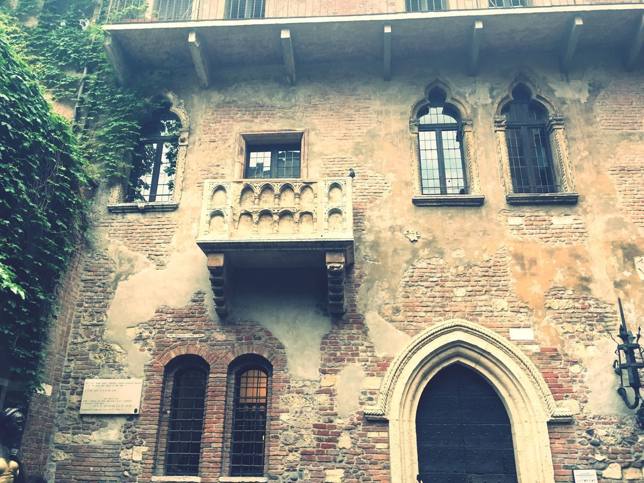Architecture Built Structure Building Exterior Arch Window No People Low Angle View Day Outdoors Romeo And Juliet Juliet Balcony Verona Italy Love Shakespeare EyeEm Best Shots Eye4photography  EyeEmBestPics Eyeem Market Travel Destinations Traveling Travel Photography Trip