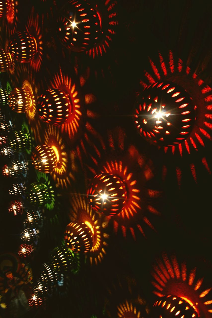 celebration, glowing, night, illuminated, christmas, lighting equipment, christmas decoration, indoors, no people, low angle view, christmas ornament, hanging, electricity, close-up
