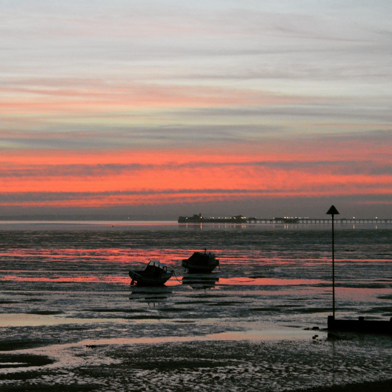Sunset Sky Outdoors Silhouette Beauty In Nature Water Scenics Sea Nature Cloud - Sky No People Tranquility Tranquil Scene Beach Horizon Over Water Day Southend On Sea Nautical Vessel Beauty In Nature Rippled Evening Low Angle View