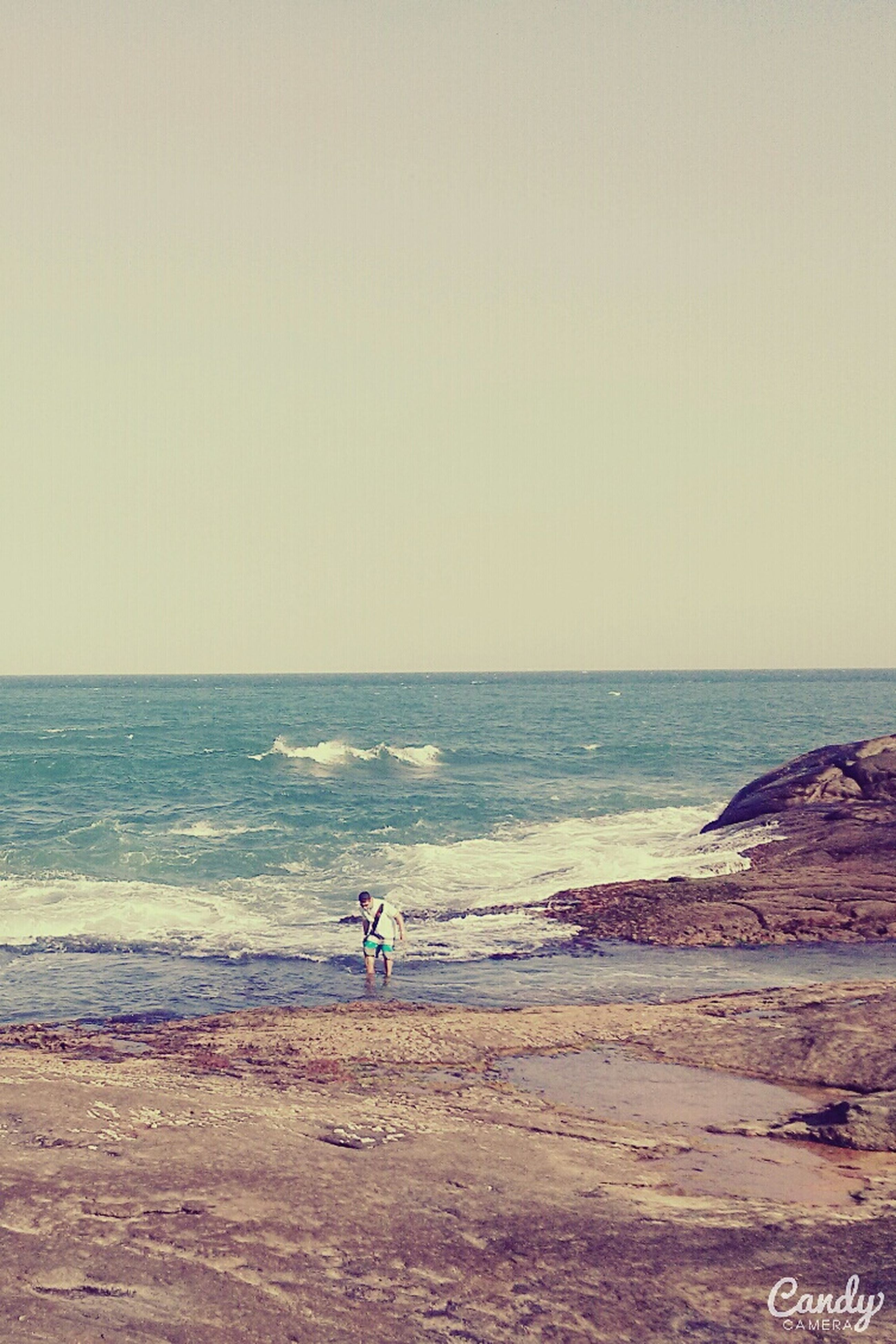 sea, beach, horizon over water, water, shore, clear sky, sand, copy space, tranquil scene, scenics, tranquility, beauty in nature, nature, wave, idyllic, coastline, remote, sky, outdoors, vacations