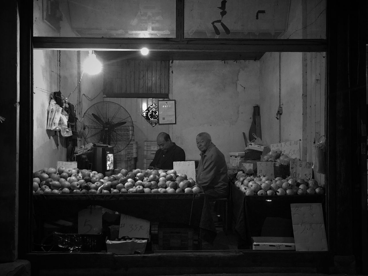 Real People Small Business For Sale Night Night View Night Lights Blackandwhite Street Photo Streetphotography EyeEm Taiwan Eye4photography  EyeEm Gallery Streetphoto_bw My Black & White Photography Bnw_life Still Life Daily Life Old Bnw The City Light