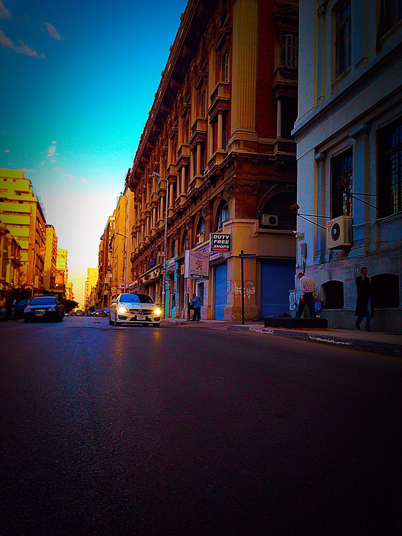 Car Alexandria Egypt Street City