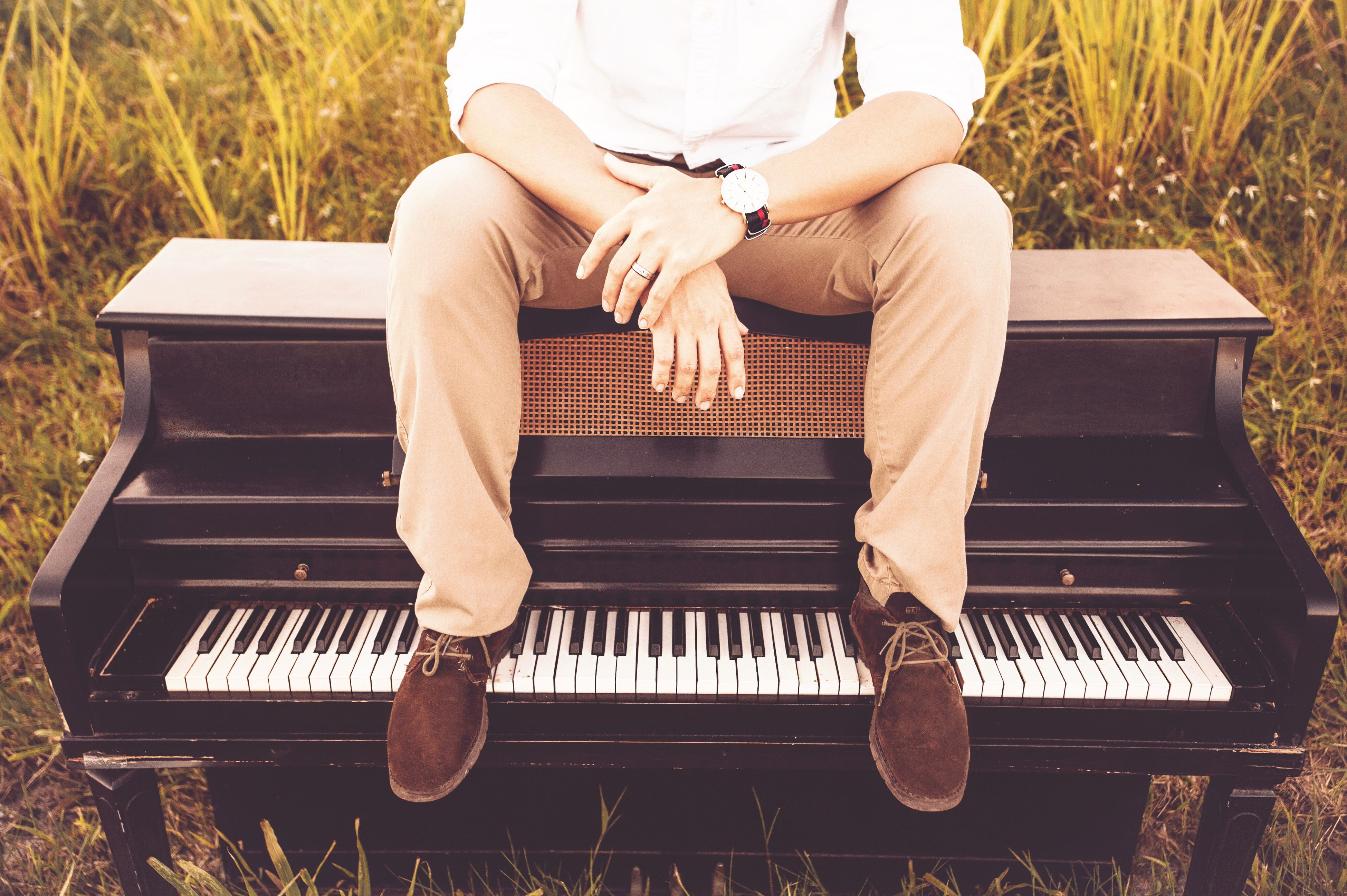 sitting, music, musical instrument, one person, piano, adults only, chair, musician, human hand, one man only, adult, human body part, people, day