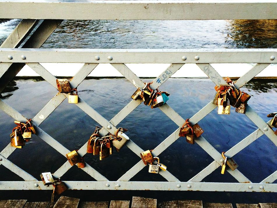 Old Lock Locks Of Love Bridge Lovebridge Rust Acient Lotofthem Brown River Riverview City Life Beautifulview Lovepictures Couples Eye4photography  Colorful Eye4photography  Todayphotography Fine Art Photography Romania Cluj-Napoca Art Is Everywhere From My Point Of View Footbridge