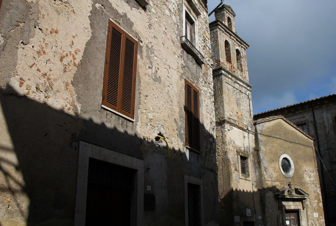 Architecture Building Exterior Church Façade Historic Italy Low Angle View Lugnano In Teverina No People Old Outdoors Umbria
