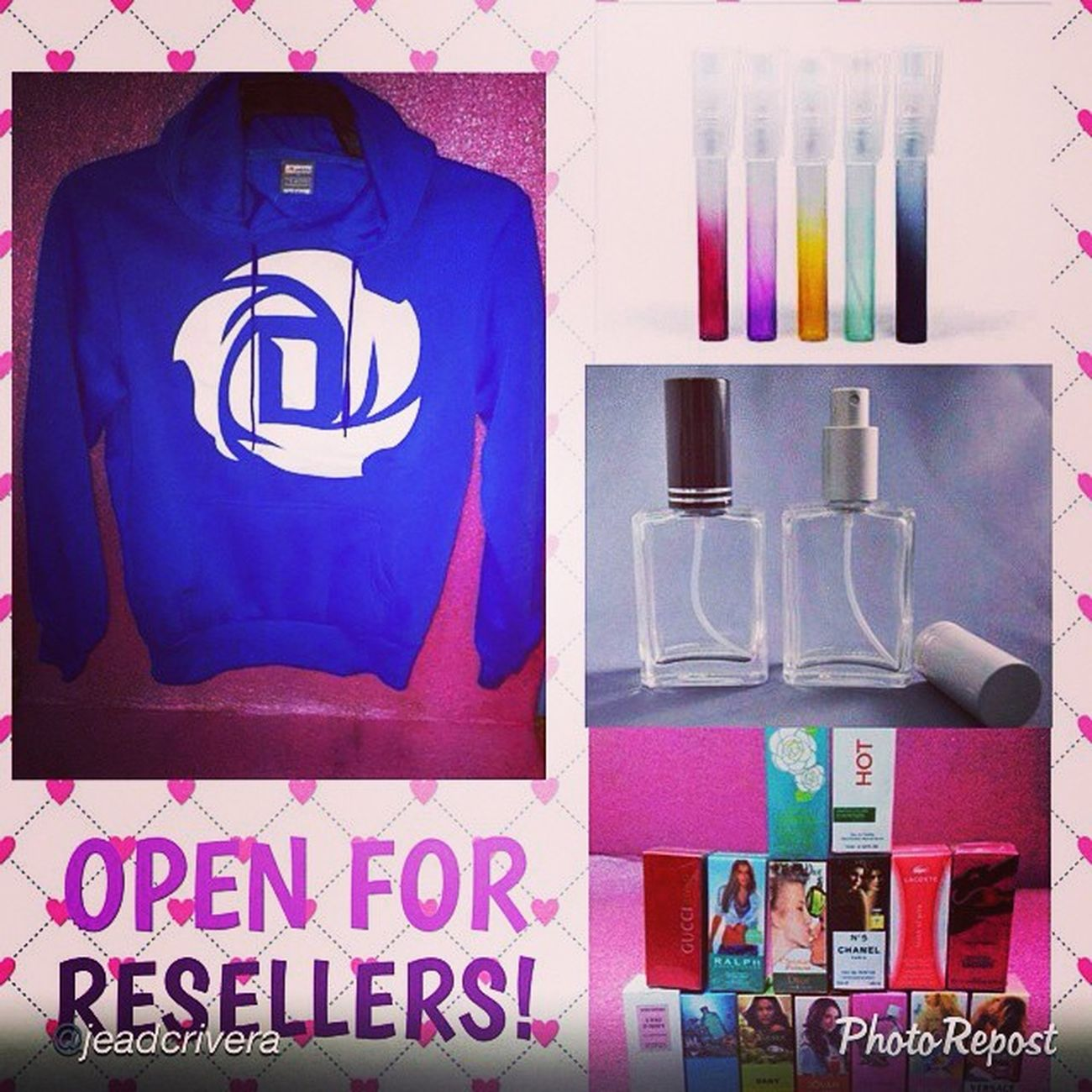 """by @jeadcrivera """"Want to have money this christmas? Or looking for affordable gifts and give aways! ASK US @ghiepereda / @buddyshoppe. :) Jackets HOODIES Inspiredperfumes Pocketperfumes gift love christmas affordable lookingfor saleph reseller onlineseller onlinebuyer onlineshop buddyshoppe"""" via @PhotoRepost_app"""