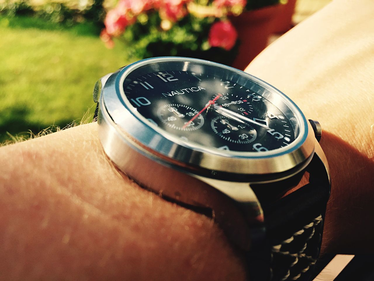 Watch Nautica Hand EyeEm Nature Lover Time Summer Sun Effect Flowers Garden