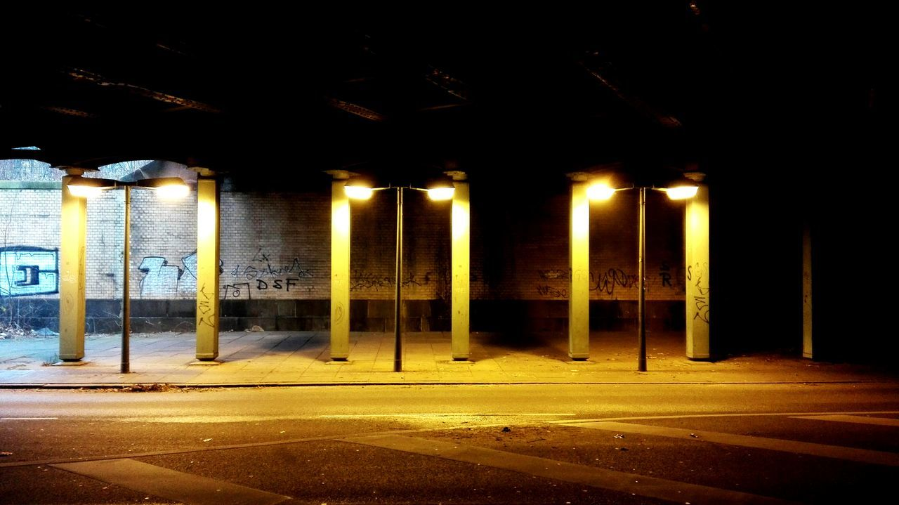 Illuminated Built Structure No People Light Light And Shadow Bridge Streetphotography Shadows & Lights Shadow Lonely Objects Lonley