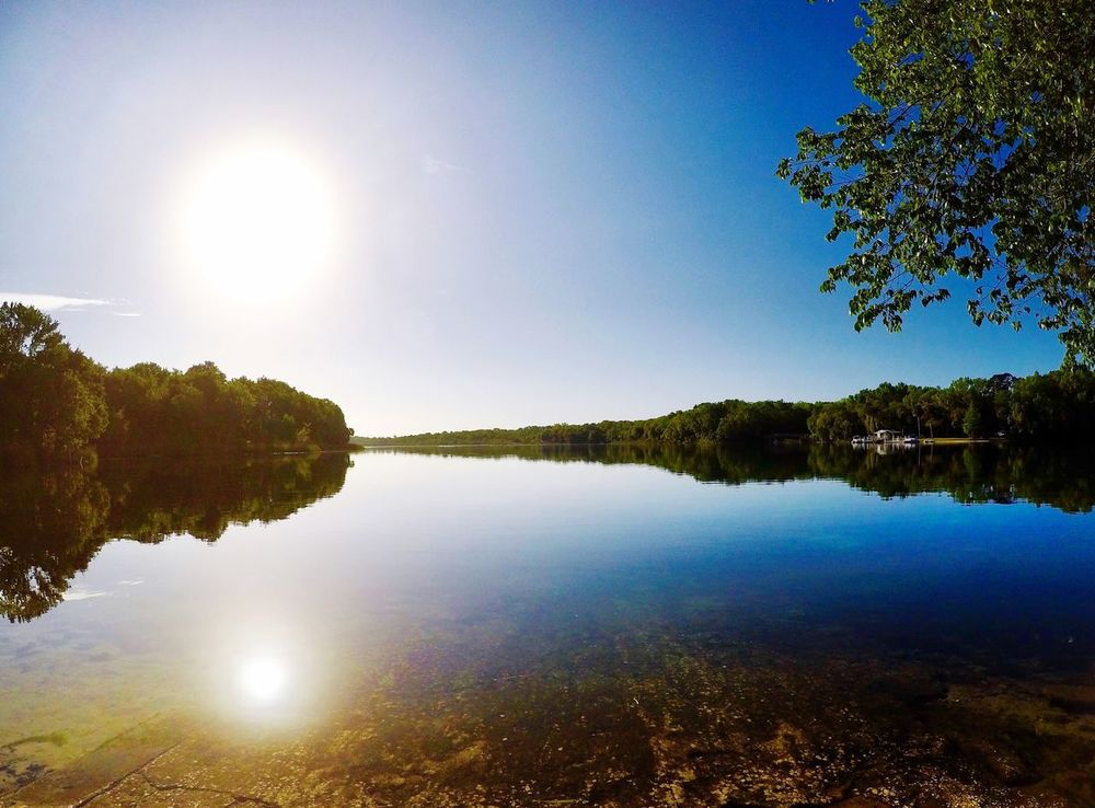Peaceful Calm Water Early Morning Saltsprings Reflection Nature Water Beauty In Nature Sky Tree Sunlight Tranquil Scene Tranquility Scenics Sun Idyllic Lake Outdoors Clear Sky Growth No People Sunbeam Landscape Day
