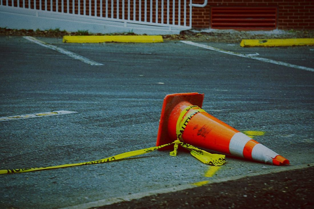 Dismissed Traffic Cone Cone Yellow Parking
