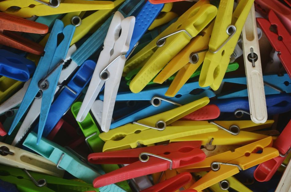 No People Choice Variation Multi Colored Large Group Of Objects Full Frame Close-up Neat Colorful Laundry Laundry Pin Laundry Pinch