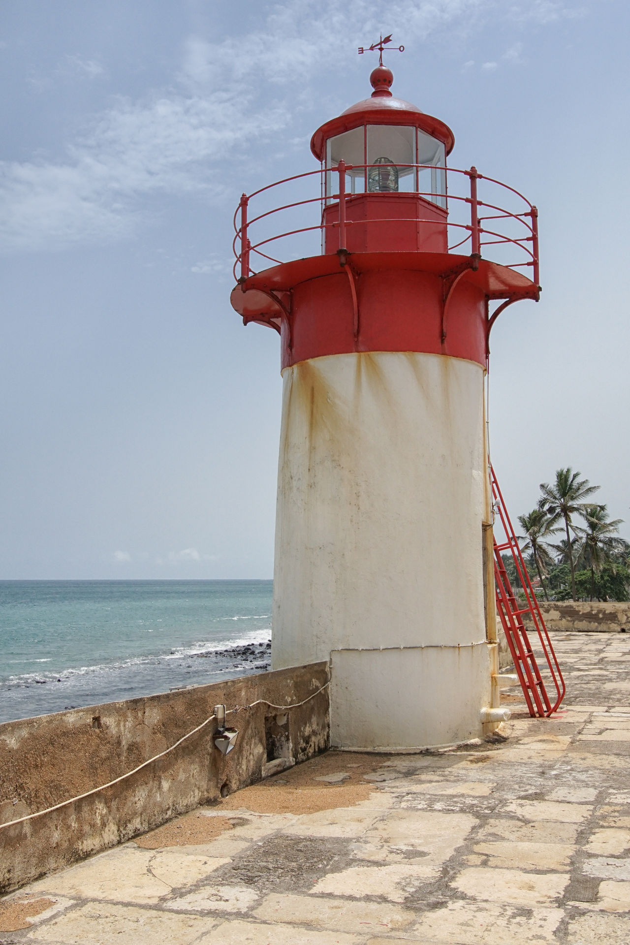 Lighthouse of Fort Sao Sebastiao, Sao Tome city, Sao Tome and Principe, Africa Africa Architecture Building Exterior Built Structure City Coast Coastline Day Famous Place Landmark Lighthouse Marítim No People Outdoors Point Of Interest Sao Tome Sao Tome And Principe Sights Sightseeing Tourism Tourist Attraction  Travel Travel Destinations Vacations West Africa