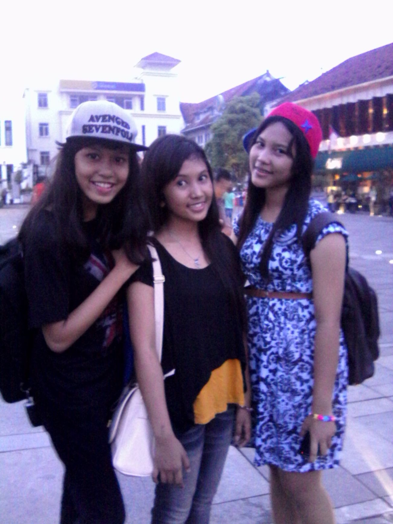 with my frends