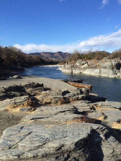 長瀞(ᐡ ´ᐧ ﻌ ᐧ ᐡ) River Nagatoro Japan Water Nature Sky Rock - Object Scenics Outdoors Beauty In Nature No People Tree