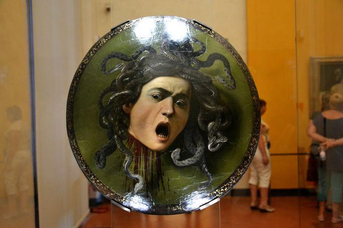 Bacco Caravaggio Florence Uffizi Art Florence Italy Italy Medusa