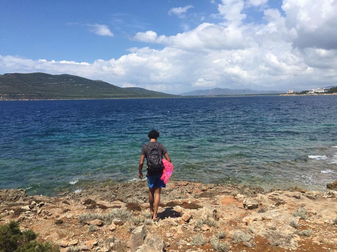 Blue Wave To The Sea Swim Sea Swimming Beach Rocky Sea Coastline Sardinia