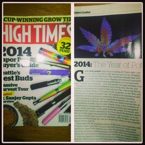 My new issue of High Times. HighTimes TheYearOfPot2014 NationalLegalization