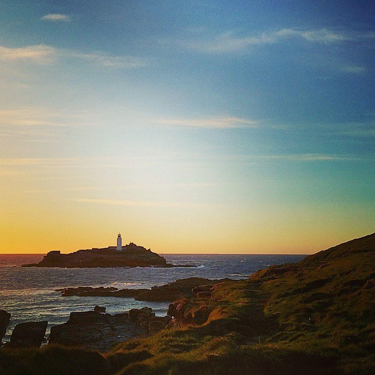 """""""The Lighthouse"""" Godrevy Godrevylighthouse Gwithian Cornwall Kernow Lighthouse Sunset Seascape Rocks Maritime Seashore Beach Surf Shoreline"""