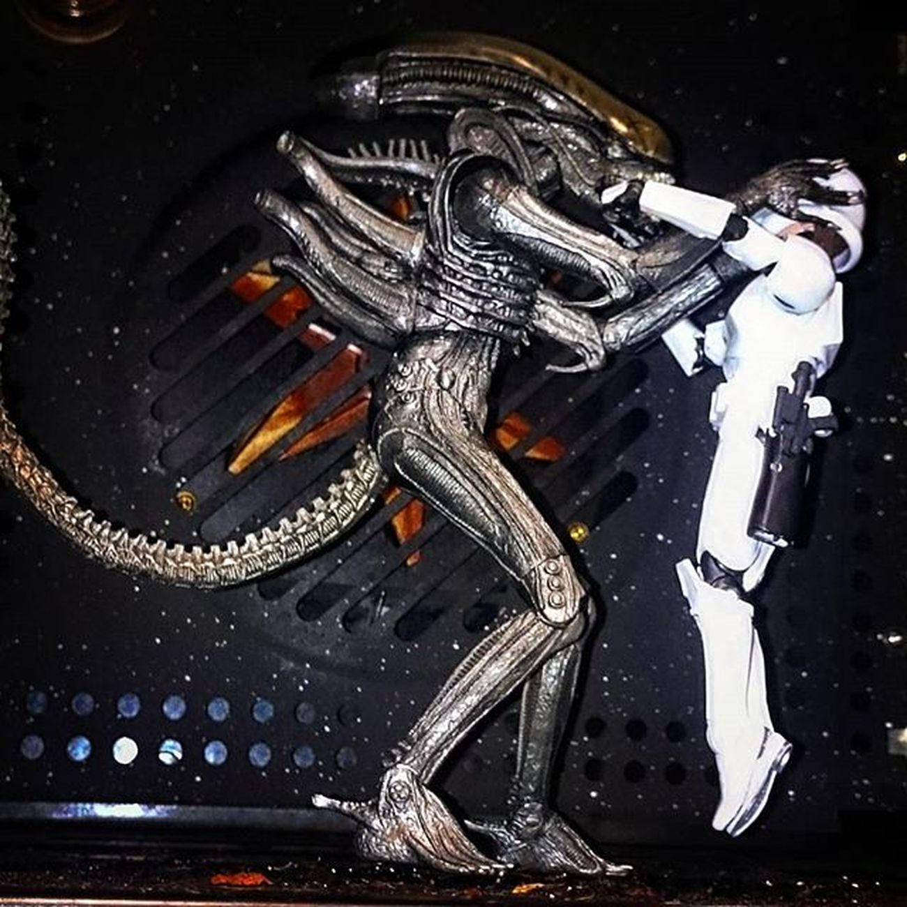 Norman and Geoff seem to have got off on the wrong foot! Alternative angle not sure if it's better!! Toyslagram_Starwars Toyoutsiders Starwarsblackseries Toyphotography Toyunion Justanothertoygroup Toydiscovery @toydiscovery Starwarselite @starwars_3lite Salaciouscrumb Normanthetrooper Geoffthexenomorph Alien Xenomorph