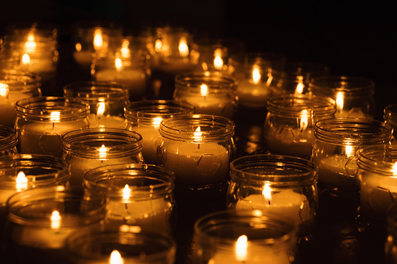Arrangement Burning Candle Candle Light Candles City Life Dark Darkness And Light Eye4photography  EyeEm Best Shots EyeEm Gallery Faith Fire Flame Flames Full Frame Illuminated In A Row Large Group Of Objects Religion Spirituality Taking Photos Tranquil Scene Tranquility Warm