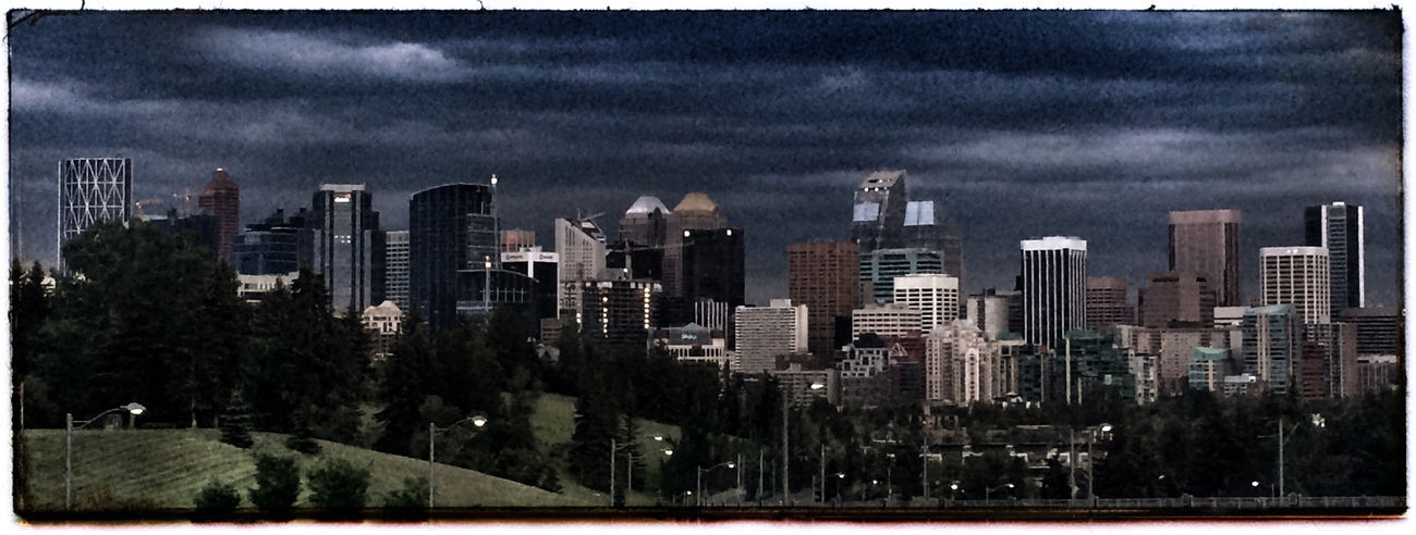 Storm clouds over Calgary. Iphone 5 Photo Of The Day Project 365 Photography City Skyline