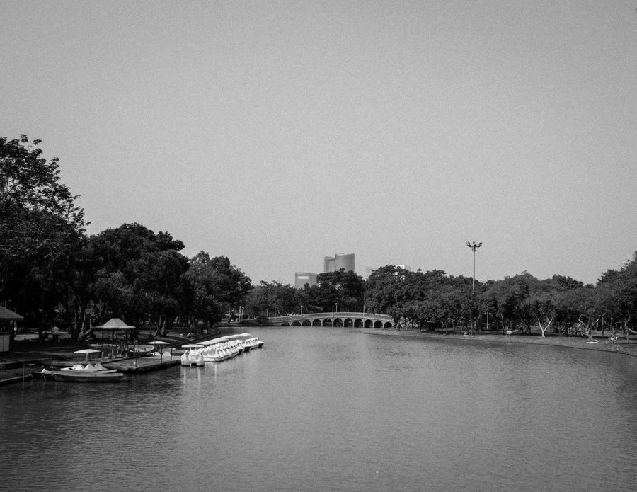 Architecture Beautiful Nature Beauty In Nature Blackandwhite Built Structure City Cityscape Clear Sky Copy Space Day Jatujak Park Spotted In Thailand First Eyeem Photo Lake Nature Nautical Vessel Outdoors River Sky Transportation Travel Travel Destinations Tree Water Waterfront